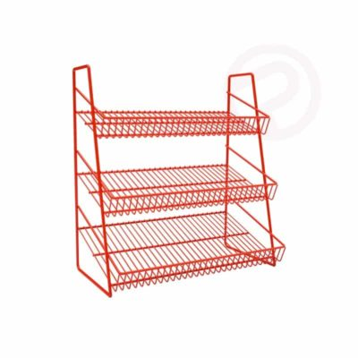 4 Tier mini wire shelf supermaket