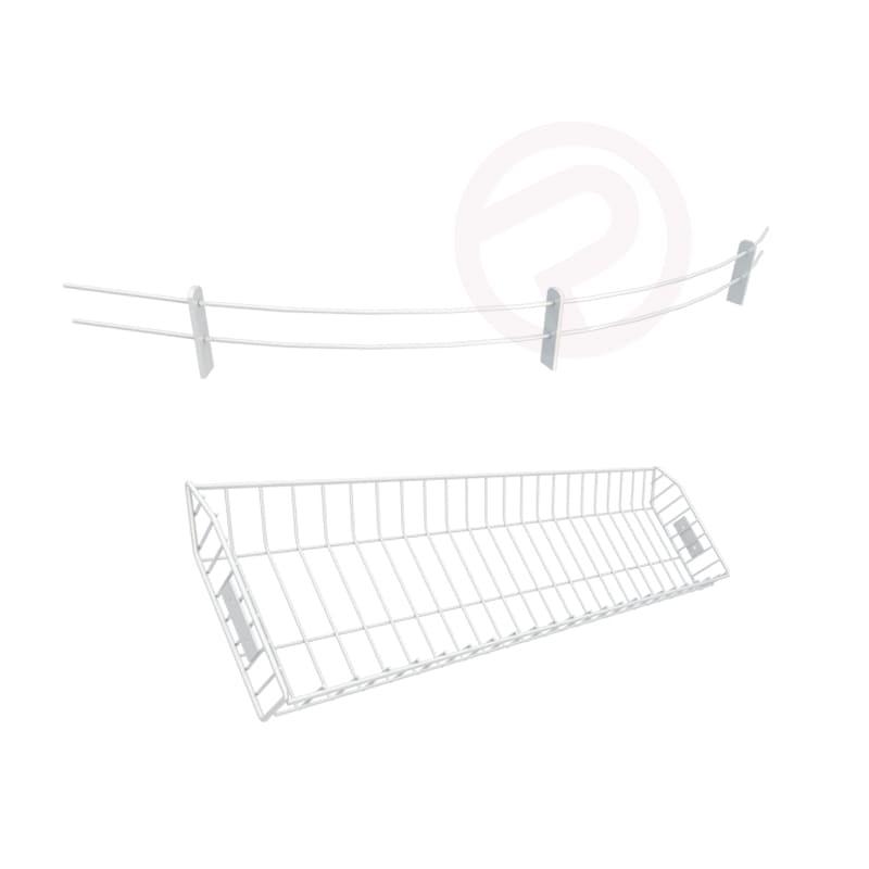 Shelving stopper counter mest basket