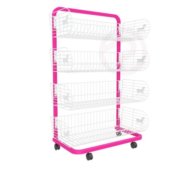 4 Pony Basket shelf frame shelves 72