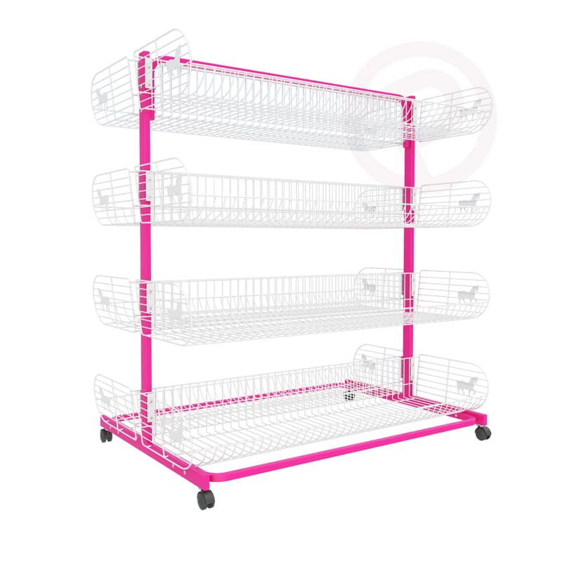 4 tier pony basket Wall cemter shelving post 120