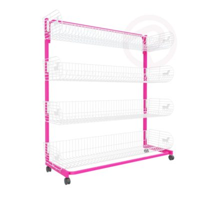 4 tier pony basket Wall shelving post 120