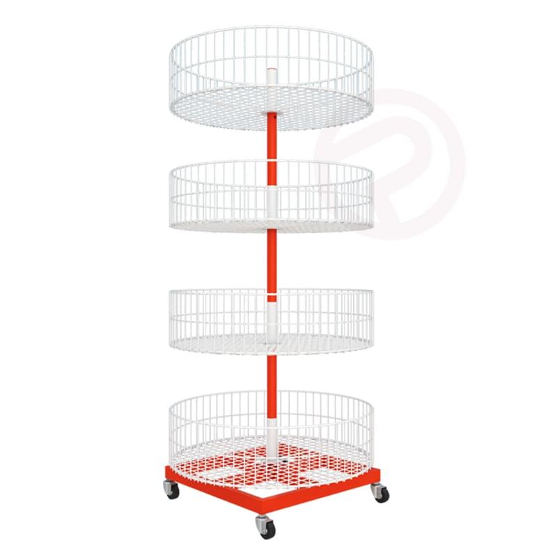 4 tier round basket shelf