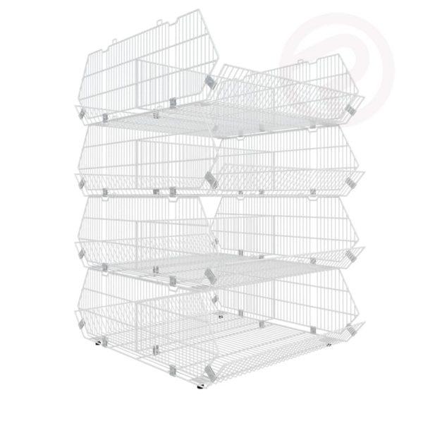 Complex basket shelf type I supermarket