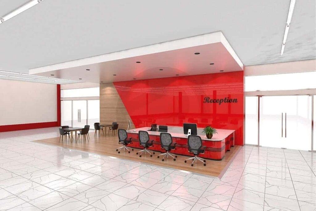 Design counter reception 1