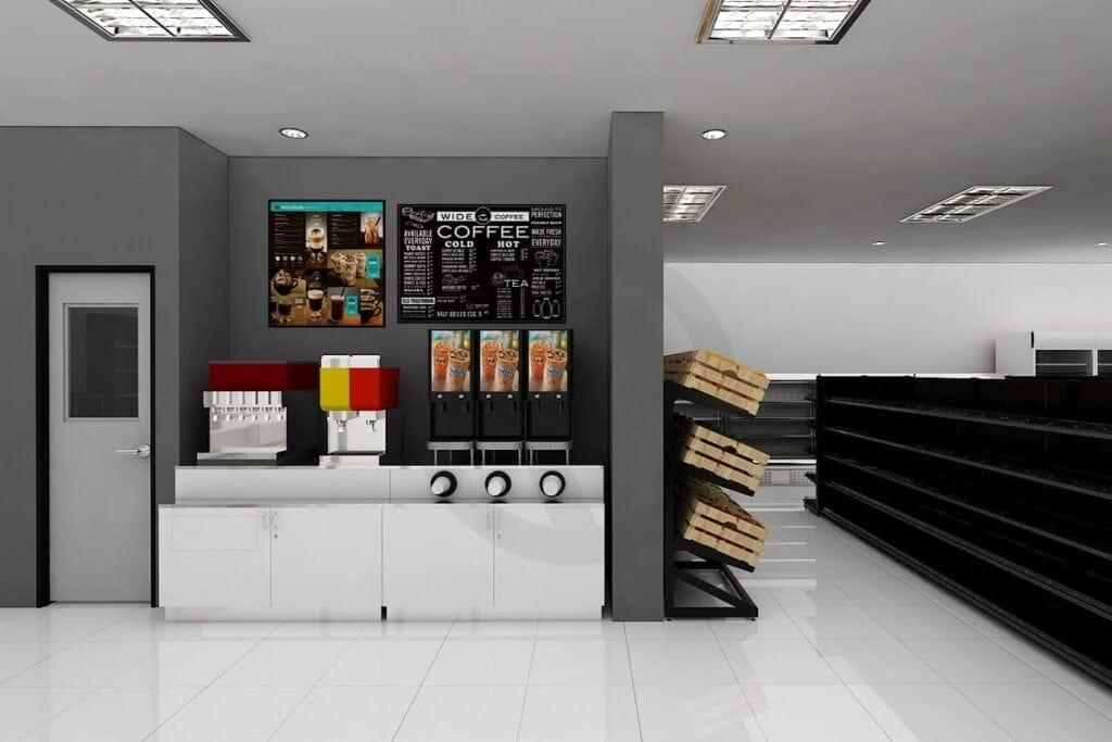 Design counter wooden