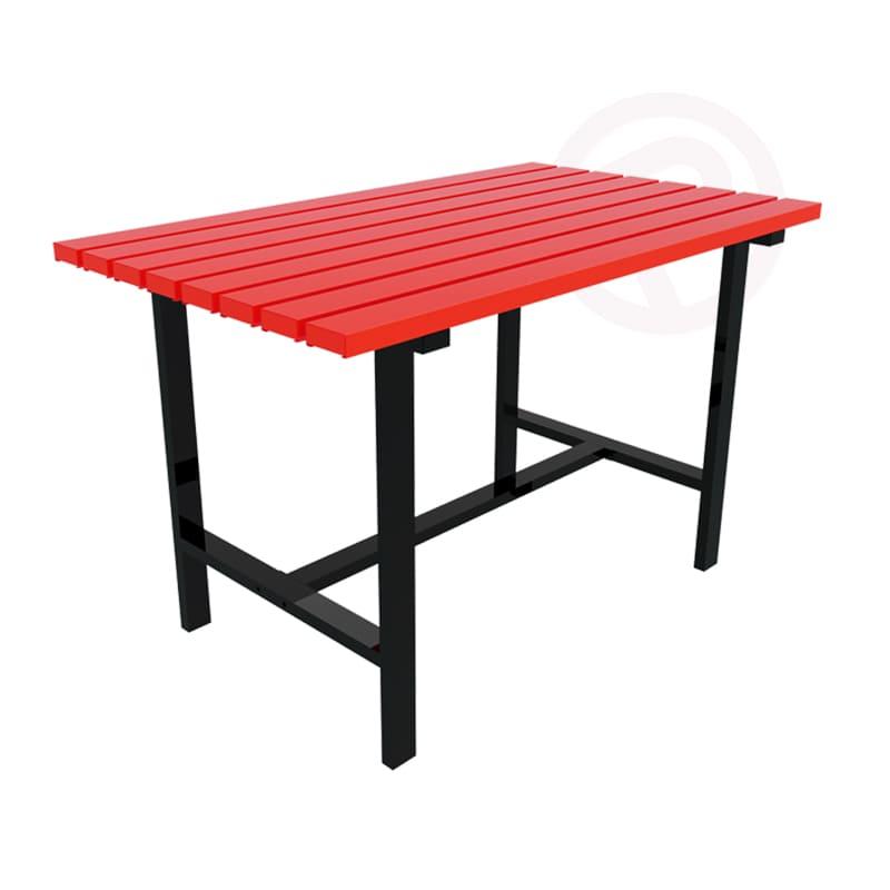 Metal outdoor furniture table