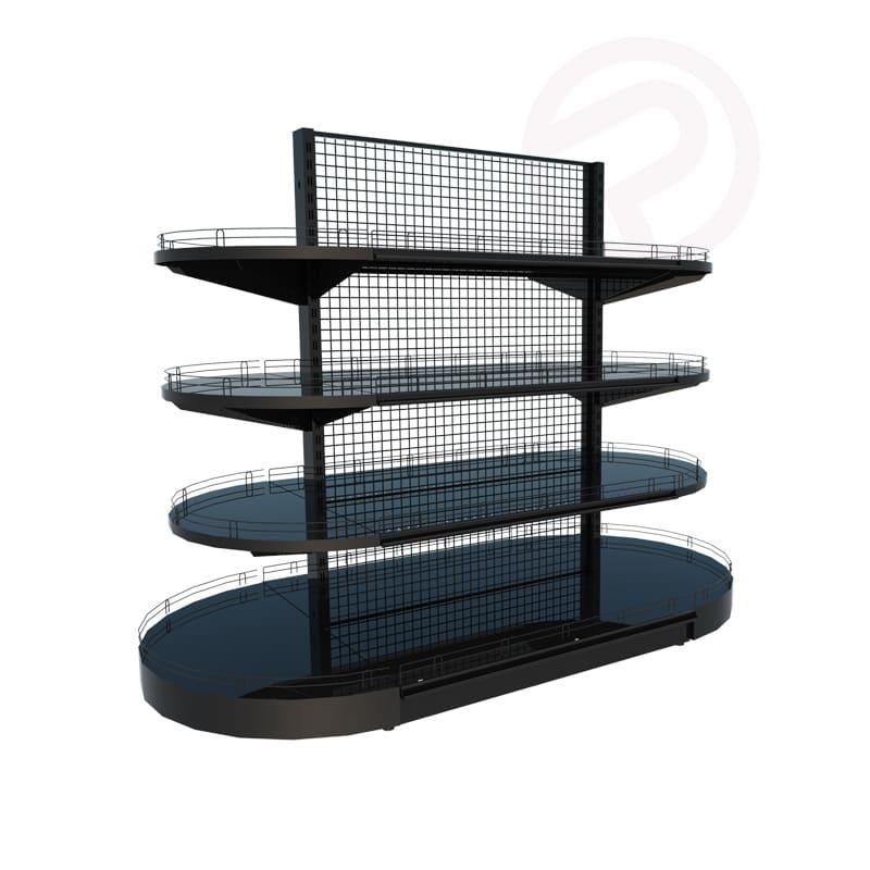 half round display shelf