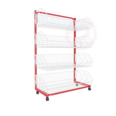 Robust Basket Shelf retail shop