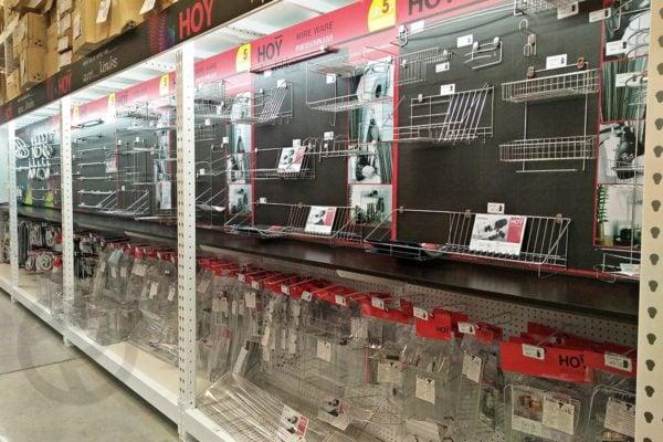 Sanitary display shelves gondola shelves