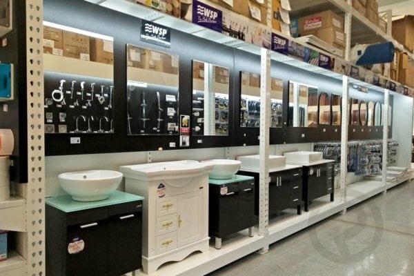 Sanitary display shelves product shop