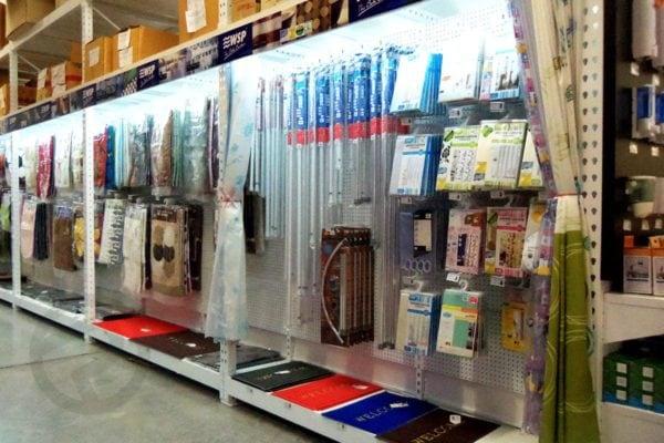 Sanitary display shelves rack