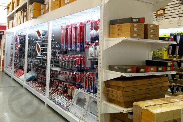 Sanitary display shelves racking