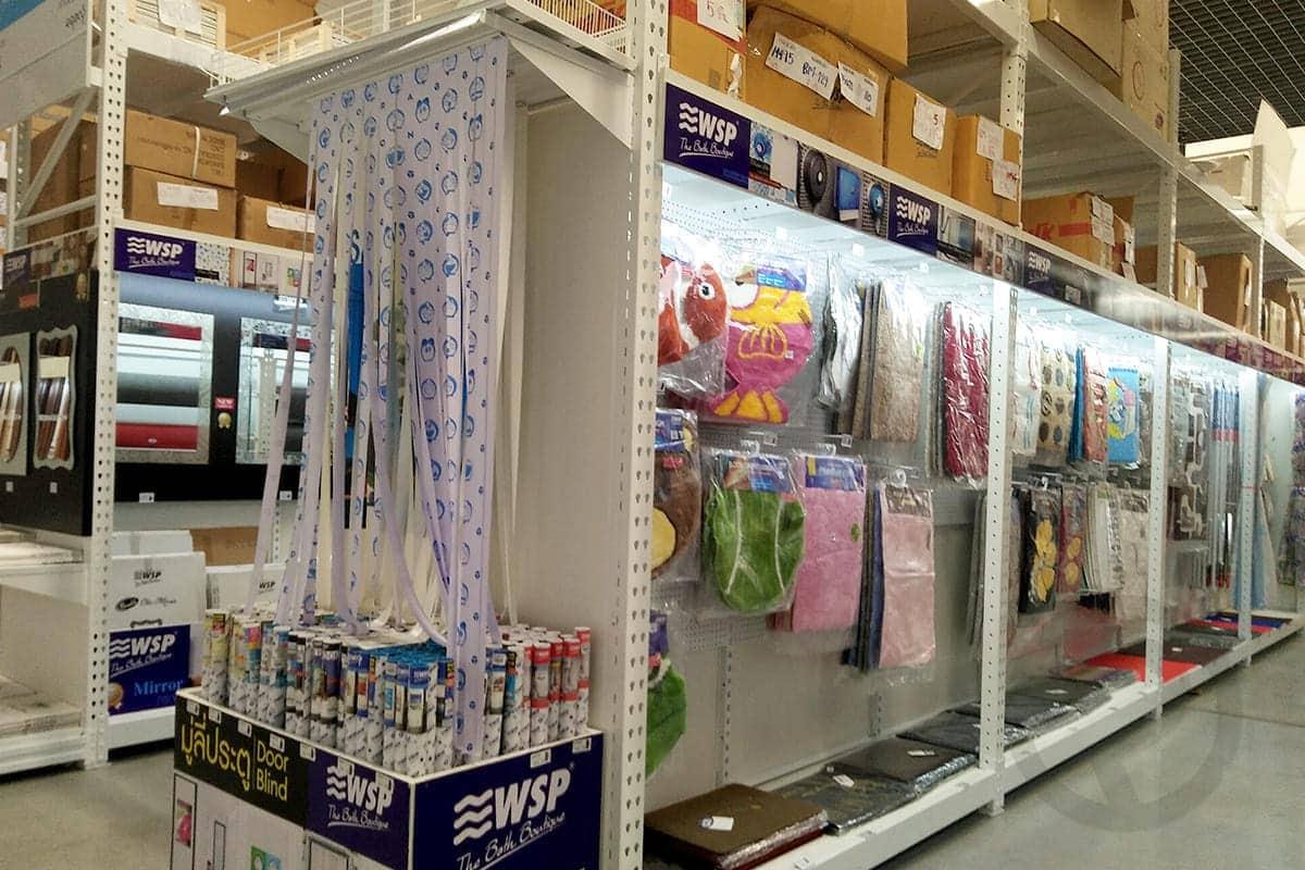 Sanitary display shelves shelf