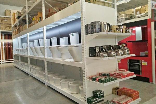 Sanitary display shelves shelving 1