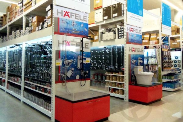 Sanitary display shelves super store