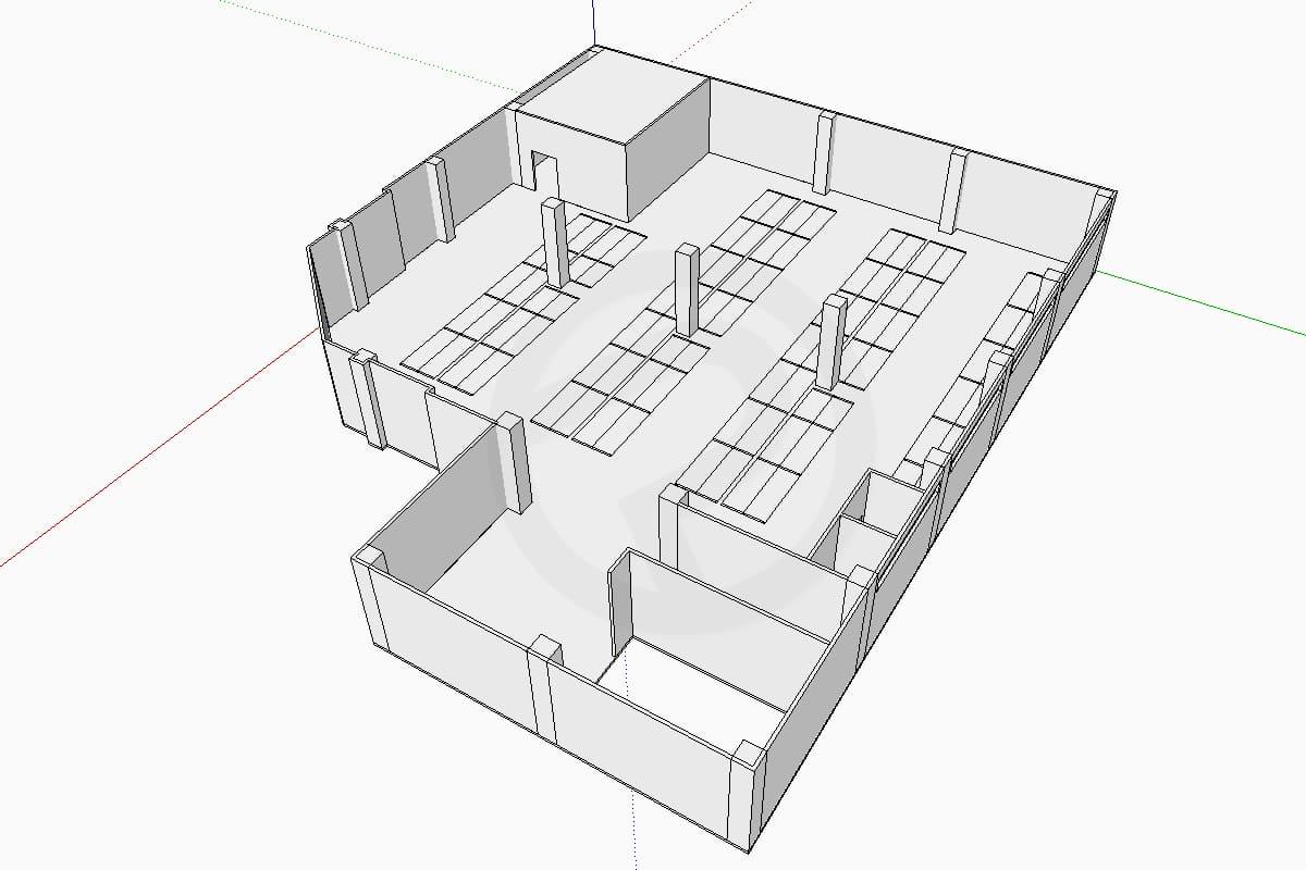 Shelves design store
