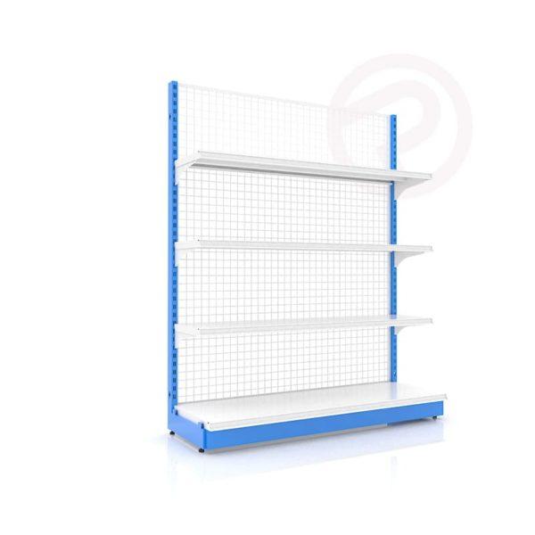 Shelves made supermarket shop