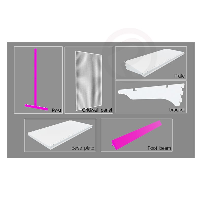 Shelving foot beam