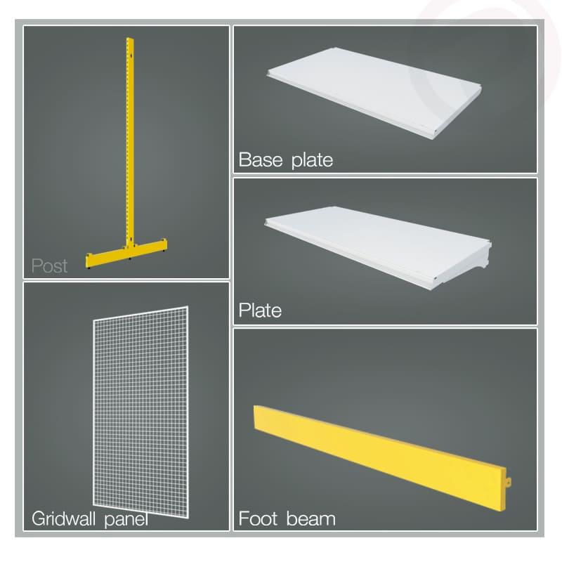 Shelving product base plate