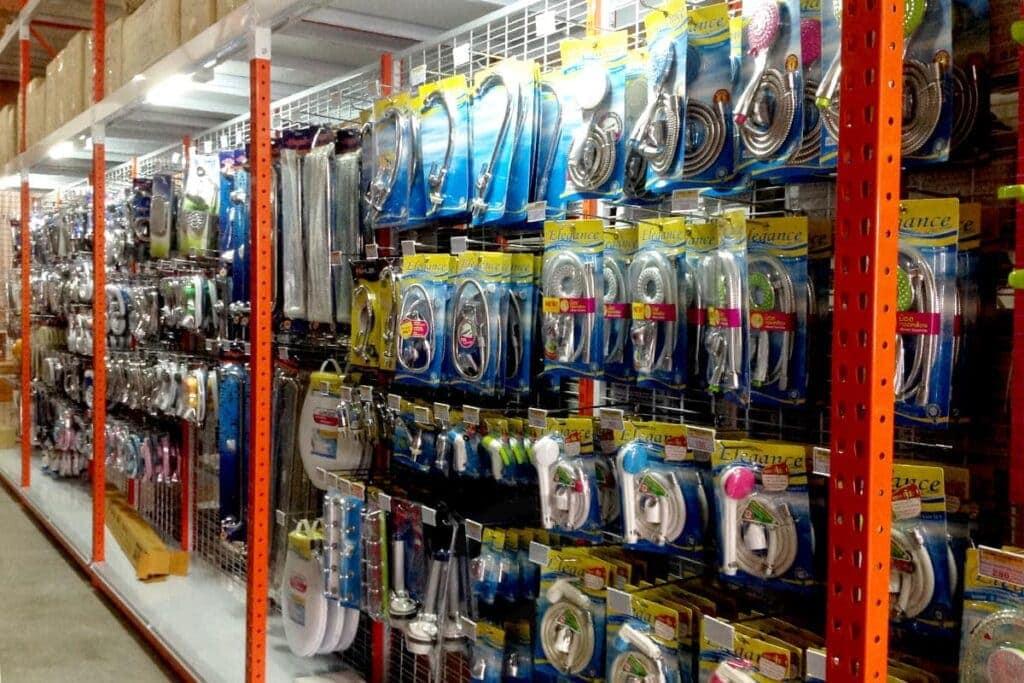 Ware house hook shelves