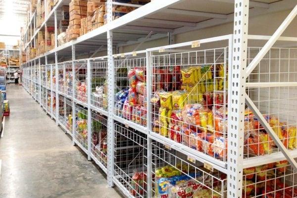 Ware house shelf supermarket shelves