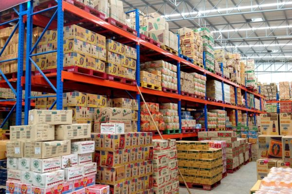 Ware house supermarket shelves racking