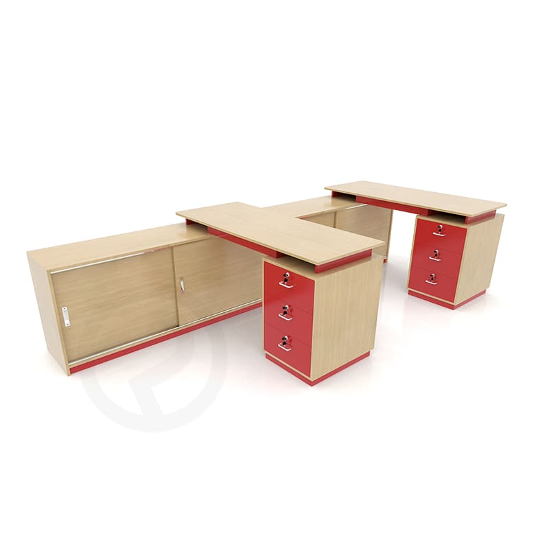 Wood counters office