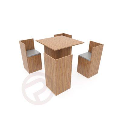 Wood design set shelving