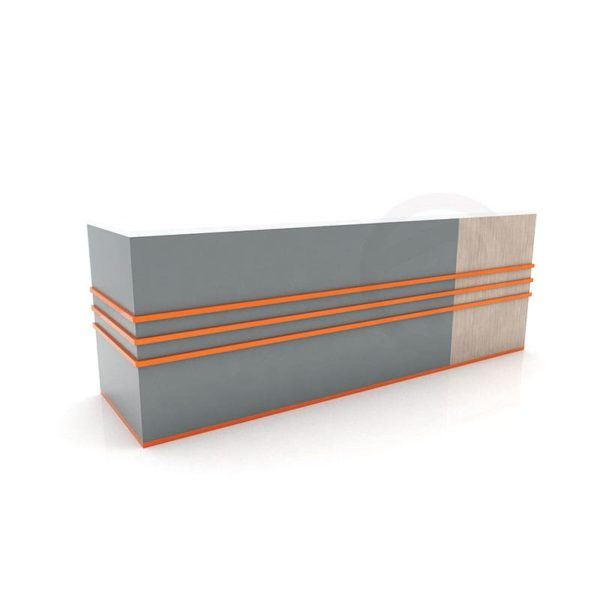 Wooden counter shelf