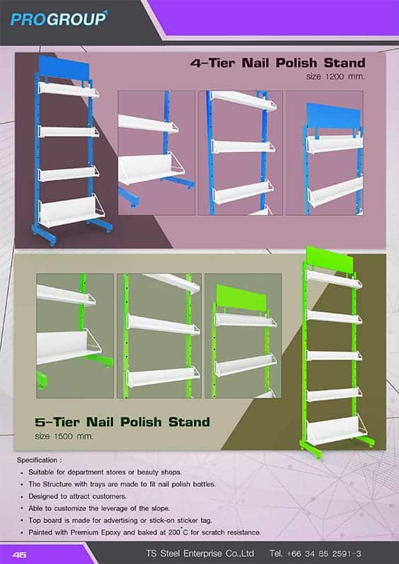 catalog 5 tier nail polish stand