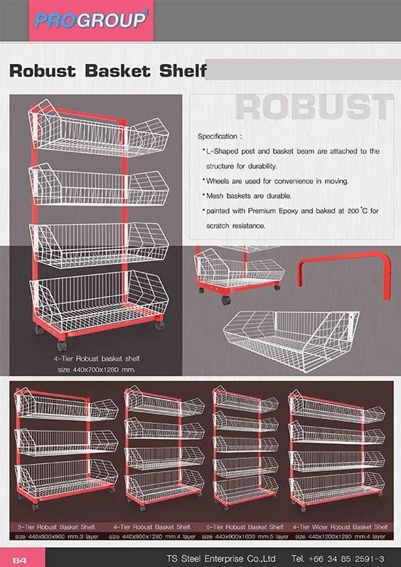 catalog robust basket shelf