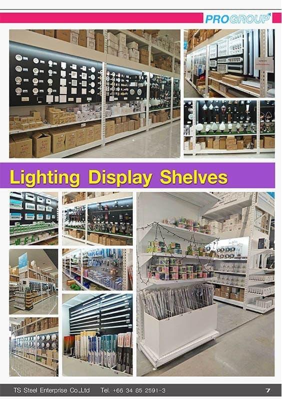 catalog shelves lighting