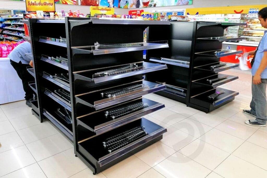 shelf product supermarket